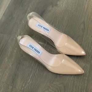 Steven Madden Clear Heels